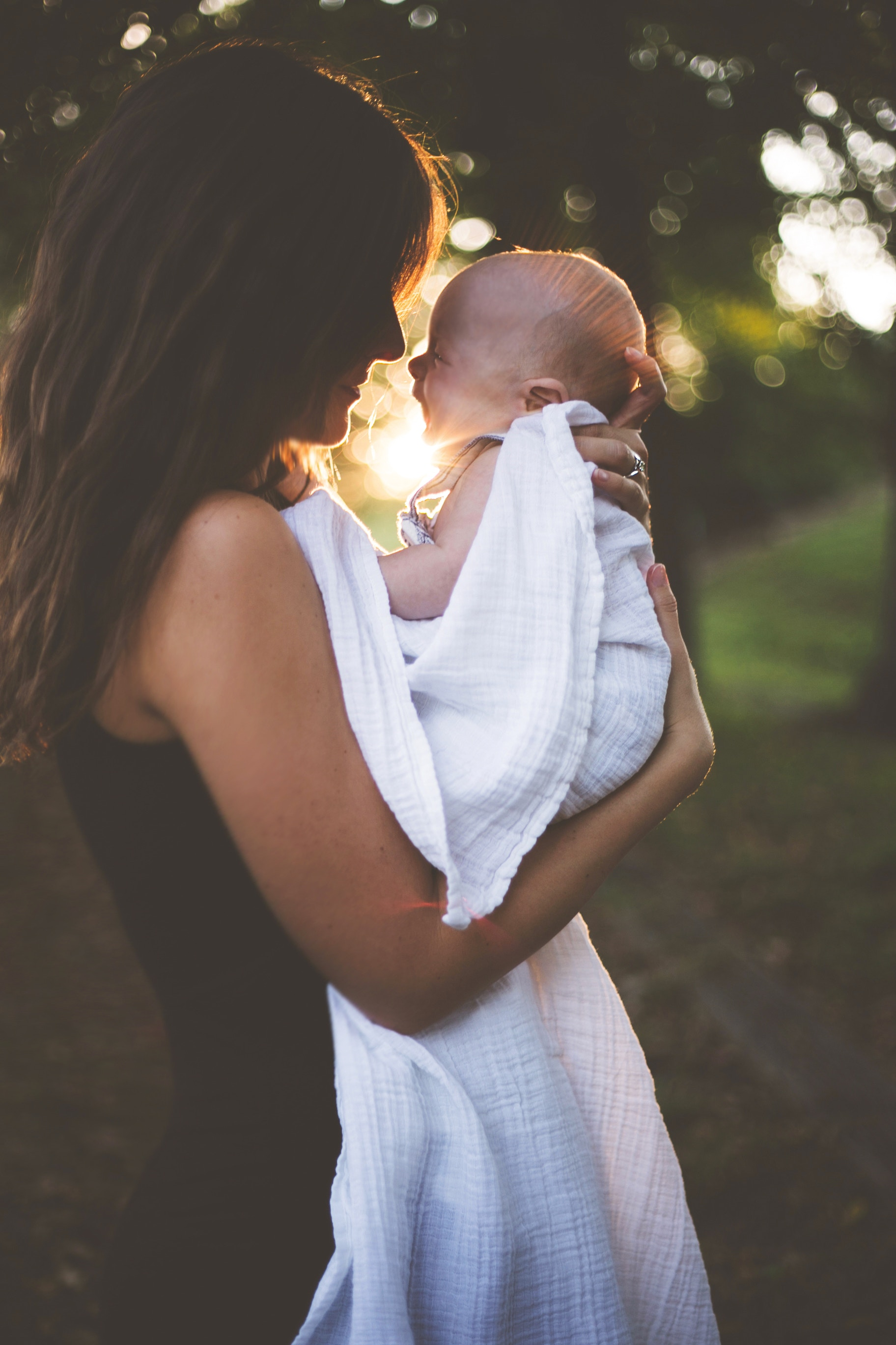 Mutter mit Baby